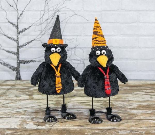 HALLOWEEN BLACKBIRD BOBBLE BODY
