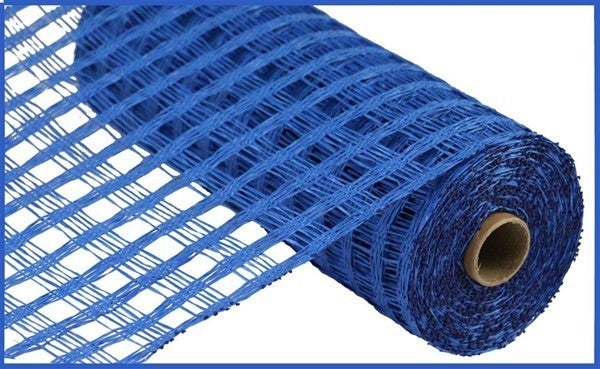 "10""X10YD POLY BURLAP CHECK MESH Royal Blue"