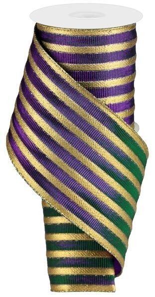 "4""X10yd Mardi Gras Stripe Mardi Gras"