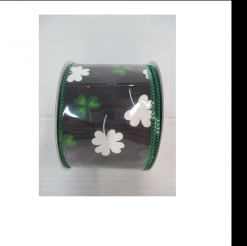 Shamrock Ribbon Black