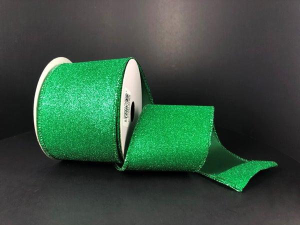"""Emerald All Flat Glitter 2.5""""x10yd"""