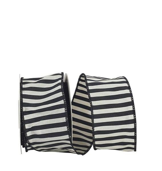 BW 3 - Silky Stripe 2 Wired Edge, Black, 2-1/2 Inch, 10 Yards