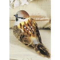 """BIRD SPARROW BROWN 3"""" Set of 12"""