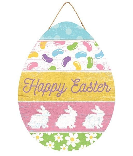 """12""""H X 9""""W Happy Easter Egg Sign"""
