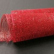"Red All Foil Metallic Mesh 10""x10yd"