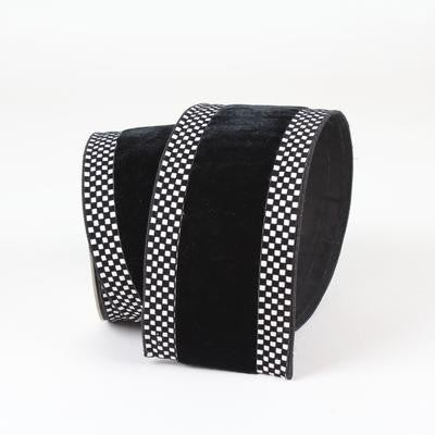 "MINI CHECK BORDER  2.5"" X 10YD / BLACK"