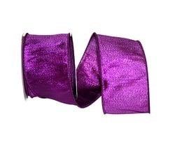 Lame Dupioni Color Wired Edge, Purple, 2-1/2 Inch, 10 Yards