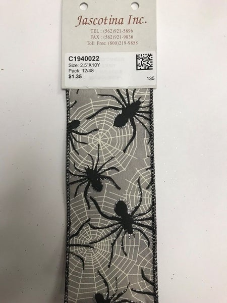 "Halloween Spider Ribbon, 2.5""X10Y"
