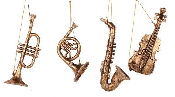 """4 Asst 8.5-11"""" Musical Orn"""