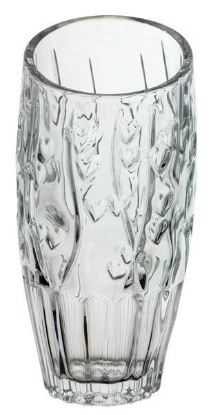 "7.5""H X 3.5""Dia Glass Heart Vase"