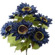 Color Fast Sunflower Bush X 7  H22 Navy Blue