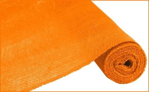 "18""X10YD COLORFAST LOOSE WEAVE BURLAP ORANGE"