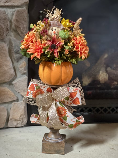 Fall Pumpkin Candlestick