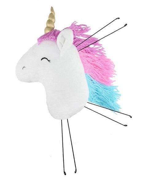 "16""H X 9""W Fabric Unicorn Head Decor"