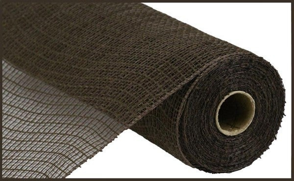 "10.5""X10yd Faux Jute/Pp Check Chocolate"