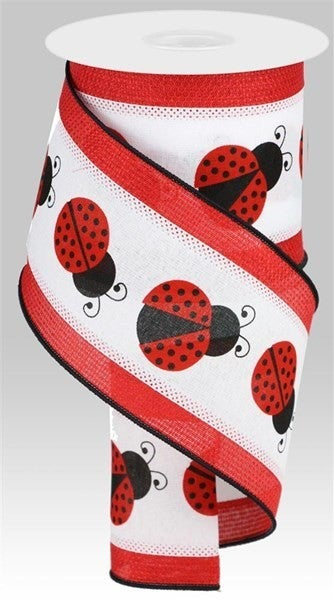 "4""X10yd 2 In 1 Ladybug W/Cross Royal"