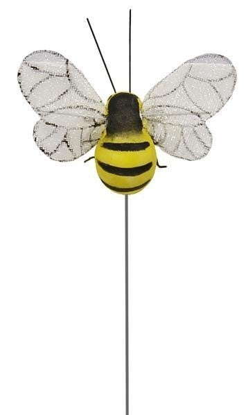 "2.5""W BUMBLE BEE ON WIRE 1 dozen"