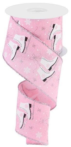 "2.5""X10yd Ice Skates/Royal Light Pink"