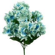 Satin Hydrangea Bush X8 H18 Blue