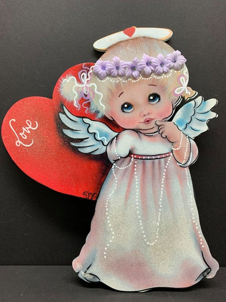 Angel Sign by Iveth Wright (print on wood) Only available at Wreaths of Joy