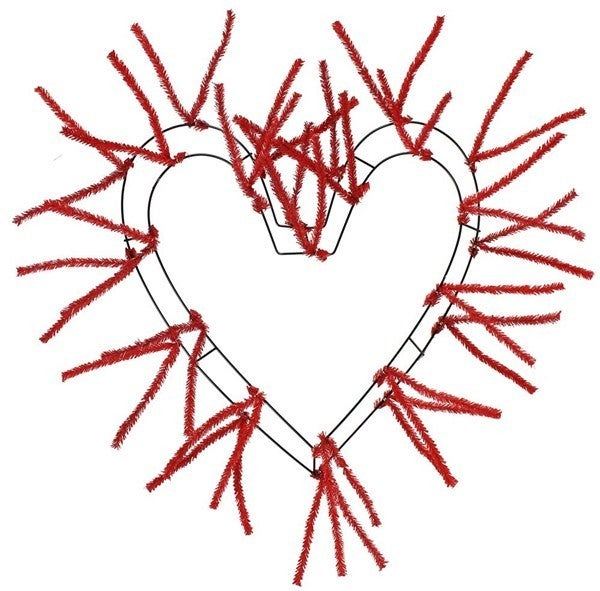 """18""""WIRE,28""""OA-WORK HEART Red"""