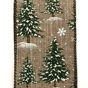 "Natural LInen/Snowy Trees 2.5""x10yd"
