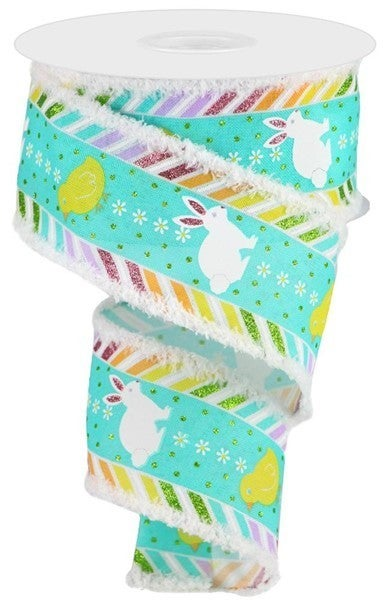 """2.5""""X10yd Chick/Bunny/Ryl/Drift Color: Wht/Pnk/Grn/Orng/Yllw"""