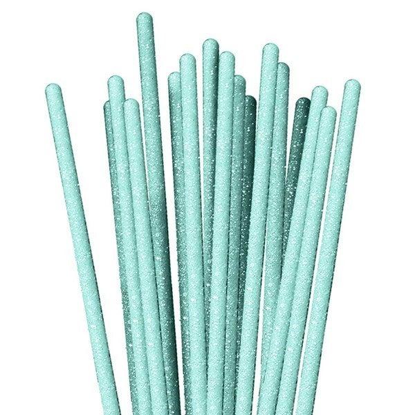 3'X 4Mm Glitzy Sticks Light Blue