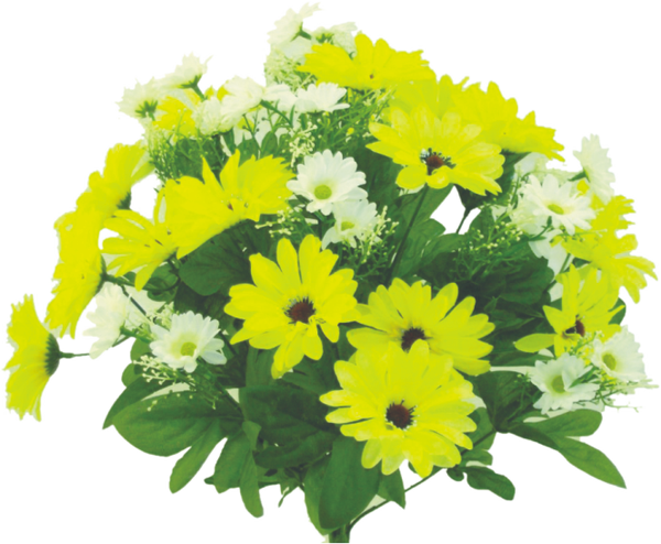 "Color Fast Daisy Bush X 22, 17""H Yellow"