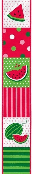 "2.5""X10yd Watermelon Block White"