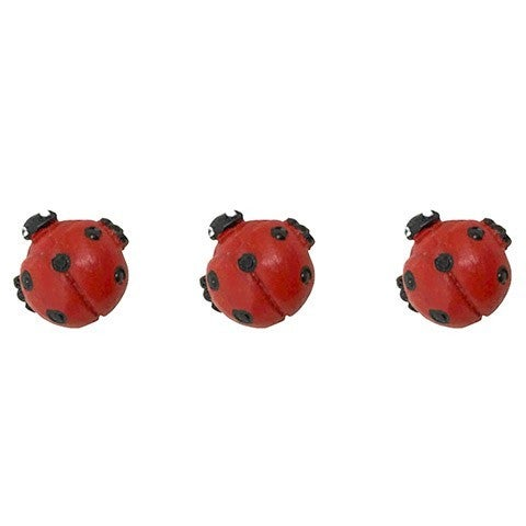 Ladybug Figurine: 0.38 Inches, 3 Pack