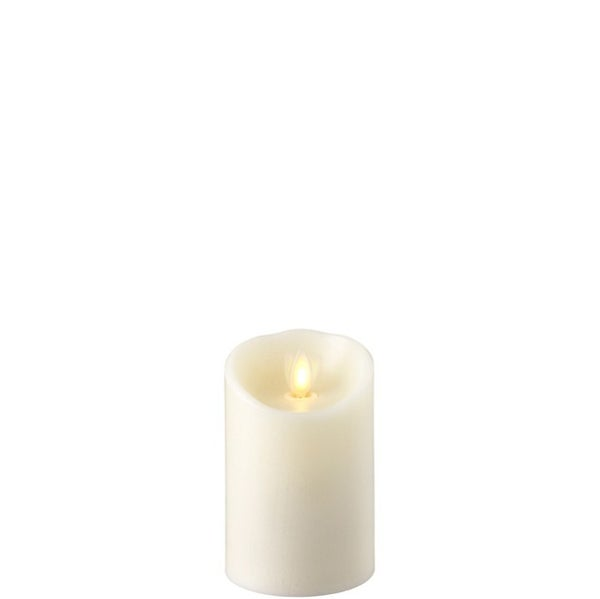 "3""X4"" Moving Flame Ivory Pillar Candle"