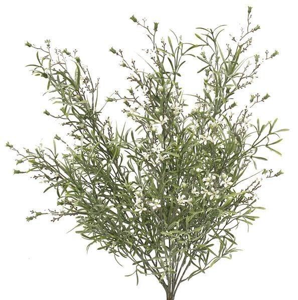 """21""""L Mini Wild Flower/Leaf Bush"""