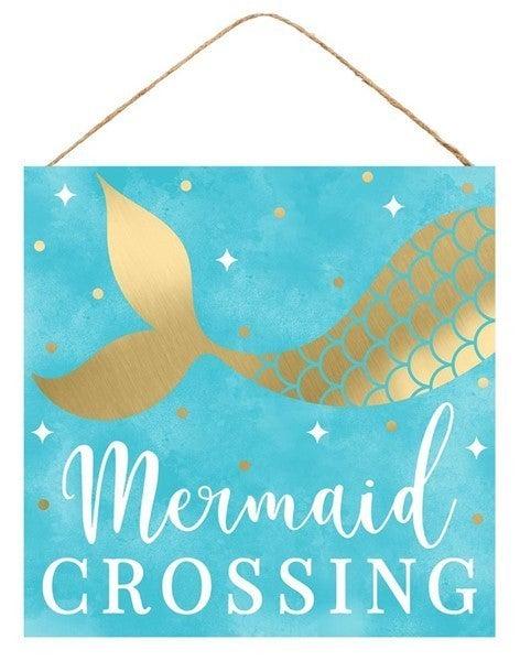 """10""""Sq Mermaid Crossing"""