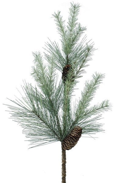 """24""""L Frosted Mixed Pine Spray Green Frosted"""