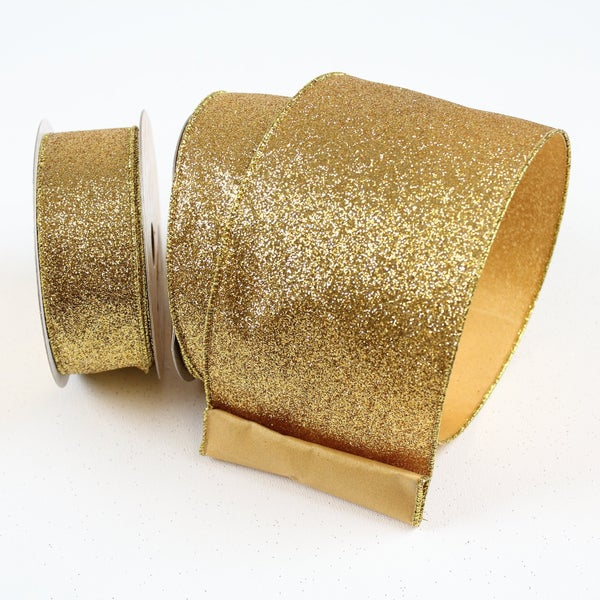 "DIAMOND DUST - 2.5""X10YD / GOLD"