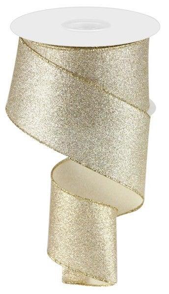 "2.5""X10yd Shimmer Glitter Champagne"