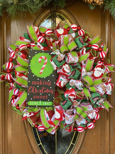 Zack's Christmas Candy Wreath