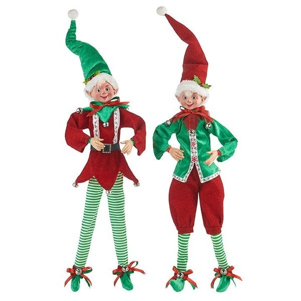 """Oh What Fun 24"""" POSABLE ELF"""