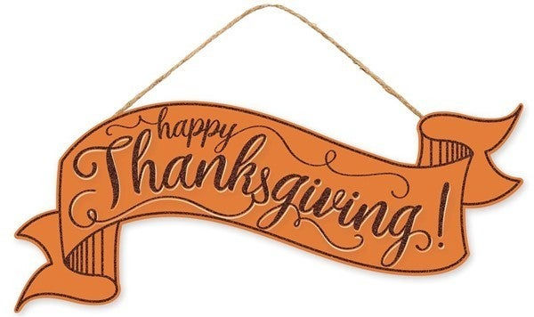 "15""L X 6.25""H Thanksgiving Banner"