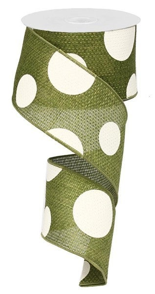 "2.5""X50yd Giant Multi Dots Moss"