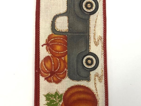 "Canvas/Grey Truck-Pumpkins 2.5""x10yd"