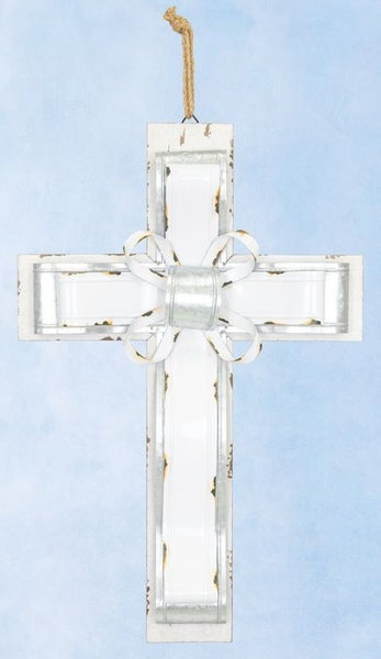 Metal Banded Large Cross Hanger