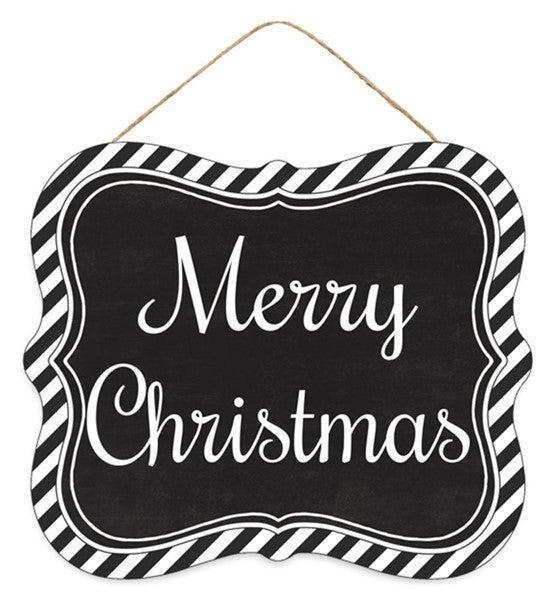 "7""Lx6""H Merry Christmas Tin Sign"