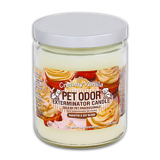 Pet Odor Exterminator Specialty Pet Products Candle, Creamy Vanilla, 13oz