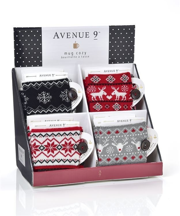 AVENUE 9 STAY COZY, ACRYLIC MUG COZIES