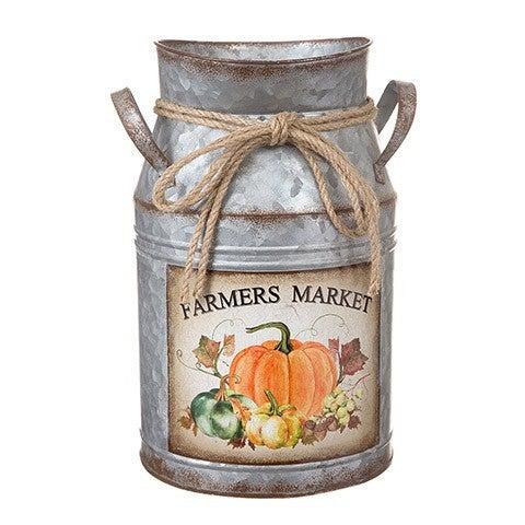 Rustic Milk Bucket: 8 X 12 Inches