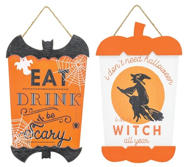BATTY WITCH SAYINGS HANGER