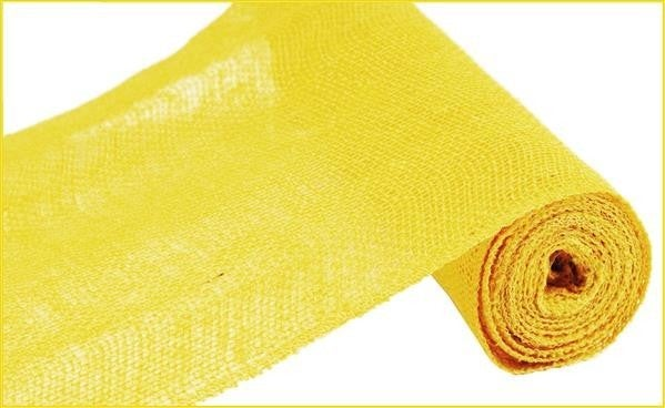 "12""X10YD COLORFAST LOOSE WEAVE BURLAP YELLOW"