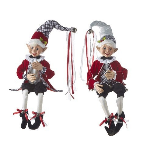 """Christmas Time in The Village 30"""" POSABLE ELF"""